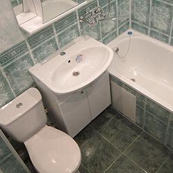 Ремонт совмещенной ванной ПВХ панелями