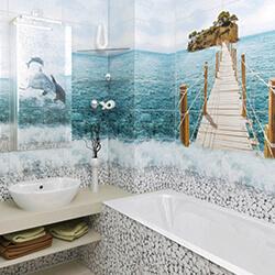 Ремонт ванной ПВХ панелями